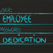 User Employee, password Dedication — Stock Photo #40812247