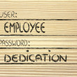 User Employee, password Dedication — Stock Photo #40812391