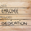 User Employee, password Dedication — Stock Photo #40812529