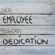 User Employee, password Dedication — Stock Photo #40812621