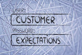 User Customer, password Expectations — Stock Photo