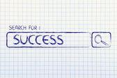 Sökmotor bar, sök för framgång — Stockfoto