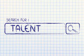 Search engine bar, search for talent — Stock Photo