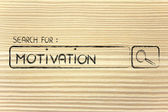 Search engine bar, search for motivation — Stockfoto