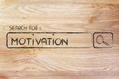 Search engine bar, search for motivation — Zdjęcie stockowe