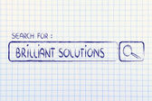 Search engine bar, seeking brilliant solutions — Zdjęcie stockowe