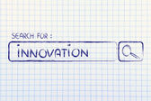 Search engine bar, seeking innovation — Stockfoto