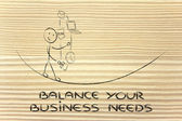 Balancing your business needs: juggling with pc, document, email — Stock Photo