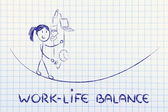 Work life balance & managing responsibilities: working mother ju — Stock Photo