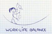 Work life balance & managing responsibilities: working mother ju — Stock Photo