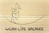 Work life balance & managing responsibilities: working father ju — Stock Photo