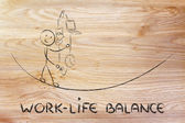 Work life balance & managing responsibilities: working father ju — Stock Photo