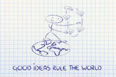 Ideas can change the world: concept of innovation — Stock Photo