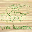 Ideas can change the world: concept of innovation — Stock Photo #41210249
