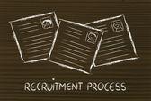Funny curriculum vitae design, the recruitment process — Stock Photo