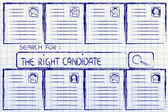 Search for the perfect candidate, cv database — Stok fotoğraf