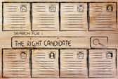 Search for the perfect candidate, cv database — Stock Photo