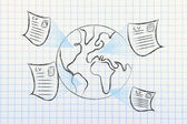 Global international recruitment process — Stock Photo