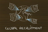 Global international recruitment process — Stock Photo