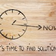 The time is now, find solutions — 图库照片