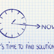 Stock Photo: Time is now, find solutions