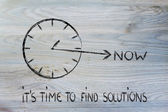 The time is now, find solutions — Stock Photo