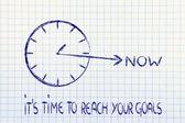 теперь достижения ваших целей — Стоковое фото