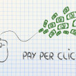 Stock Photo: Computer mouse: concept of pay per click and click-through rate