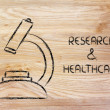 Stock Photo: Science tools: microscope for research & healthcare