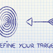Stock Photo: Business: define your target, reach right market