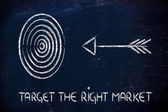Business: define your target, reach the right market — Stock Photo