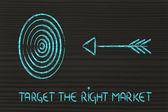 Business: define your target, reach the right market — Stok fotoğraf