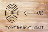 Business: define your target, reach the right market — Zdjęcie stockowe