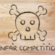 Unfair competition threat, funny skull metaphor — Stock Photo #41961789