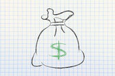 US dollar money bag — Stock Photo