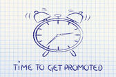It's time to...get promoted — Stock Photo