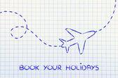 Reisebranche: Flugzeug und Luft weg oder Pfad — Stockfoto