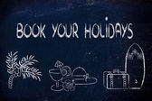 Travel industry: holiday planning and booking — Stok fotoğraf
