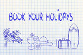 Travel industry: holiday planning and booking — Stock Photo