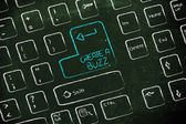 Computer keyboard with special key: create a buzz — Stock Photo