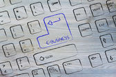 Computer keyboard with special key: e-business — Foto de Stock