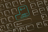 Computer keyboard with special key: create a strategy — Stockfoto
