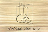 Knowledge or creativity management — Stock Photo