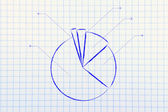 Business stats: pie chart graph — Stock Photo
