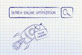 SEO, search engine optimization — Stock Photo