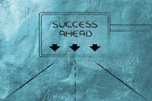 Highway signal with message: success ahead — Stock Photo