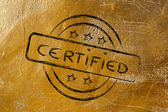 Stamp-like design with the word Certified — Stockfoto