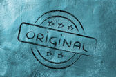 Stamp-like design with the word Original — Stock Photo
