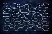 Buzz, news, opinions and communication — Stock Photo