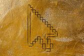 Old school design of pixelated cursor — Stock Photo
